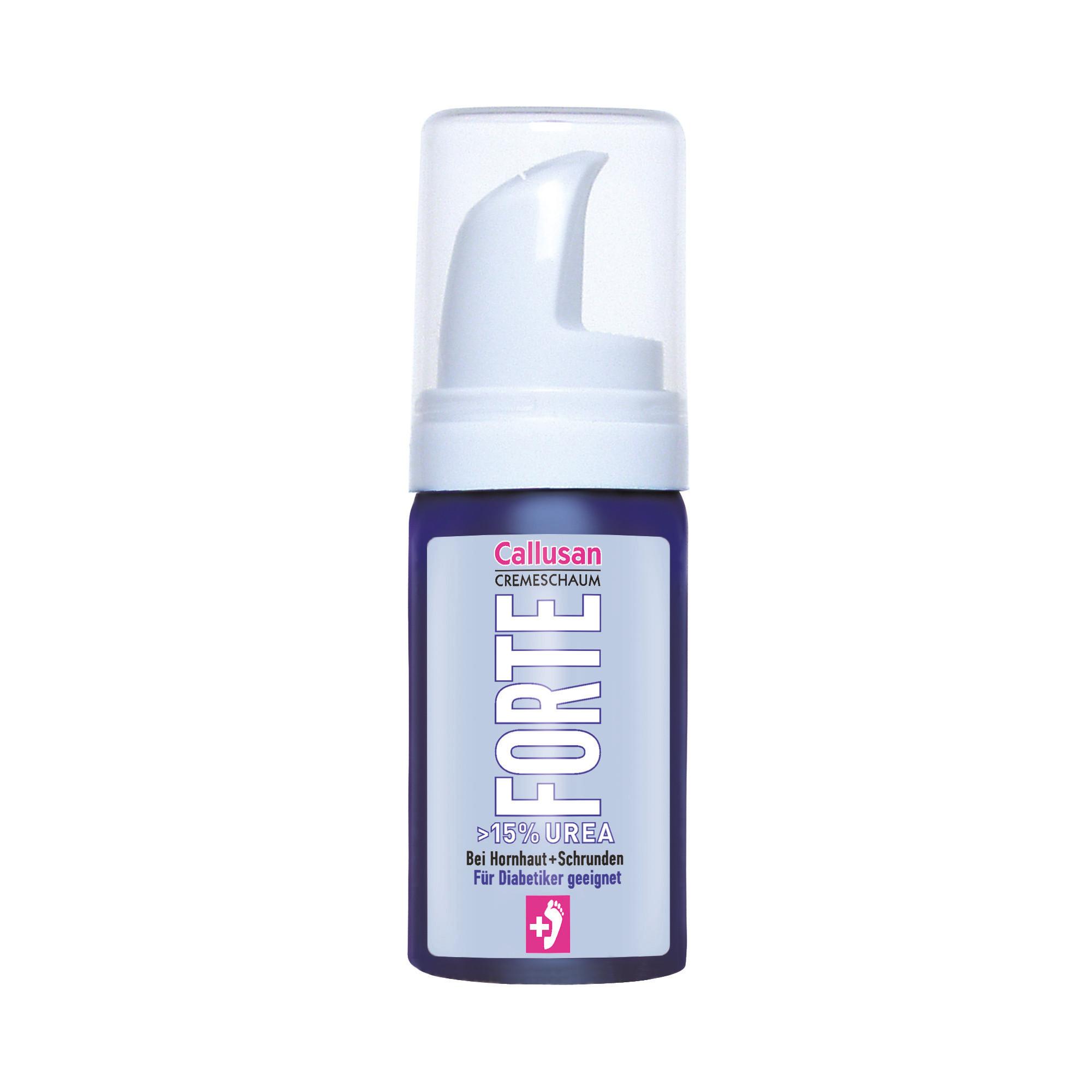 Forte - 15% d'urée - Crème de mousse pour peau dure et craquelée - Convient pour les soins des pieds diabétiques - Callusan