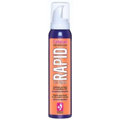Rapid - 5% d'urée - Crème de mousse spécial peau sèche sensible aux champignons - Convient pour les soins des pieds diabétiques